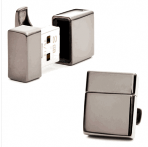 Gunmetal 4gb USB Flash Drive Cufflinks