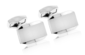 Tateossian Hexagonal White Cufflinks