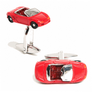 Red Sportscar Convertible Cufflinks
