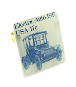 Electric Auto Stamp Cufflinks