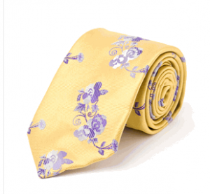 Japanese Flower in Yellow, Italian Silk