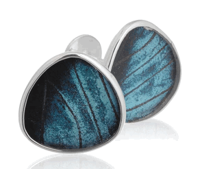 Aymara Forest Night Tear Drop Butterfly Cufflinks