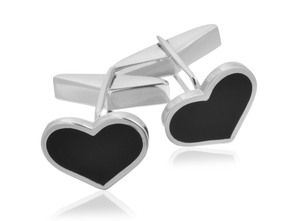 Sterling Silver Heart Cufflinks, CLM