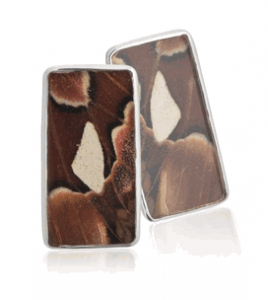 Aymara Brown Sea Butterfly Cufflinks