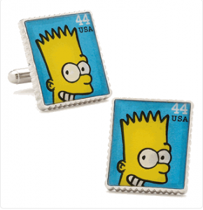 Bart Simpson Stamp Cufflinks