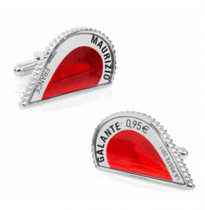 Red Amour Heart Stamp Cufflinks