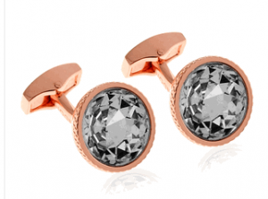 Tateossian RT Crystal Pond, Rose Gold Cufflinks