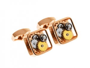 Tateossian Gear Pink Gold Cufflinks