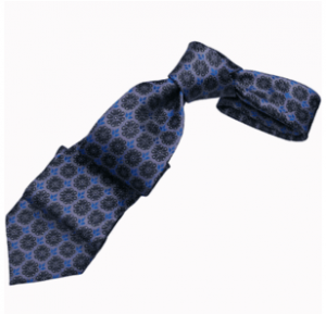 Blue and Purple Lotus Silk Tie