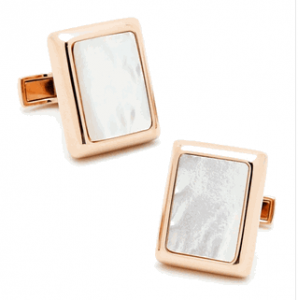Rose Gold and MOP, JFK Presidential Cufflinks