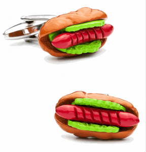 Hot Dog Cufflinks