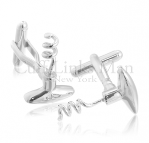 Corkscrew Cufflinks--not a position, just an accessory