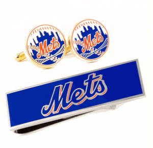 New York Mets Cufflinks and Money Clip Set