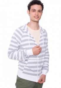 Fine jersey Zip Hoody from American Apparel