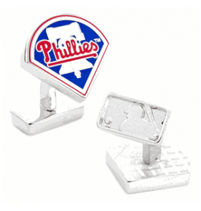 Palladium Philadelphia Phllies Cufflinks, MLB