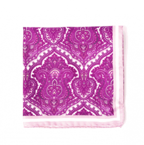 Pink and White Bandana, Silk, Spring 2012