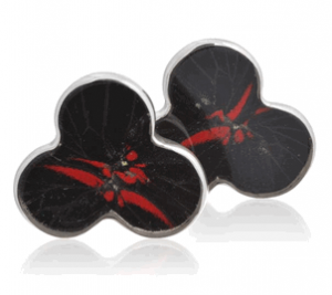 Aymara Black Clover Beauty Butterfly Cufflinks