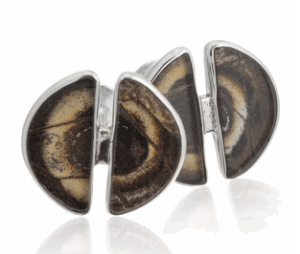 Aymara Split Circle Owl Eye Butterfly Cufflinks