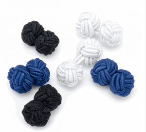 Basic Nautical Silk Knot Cufflinks