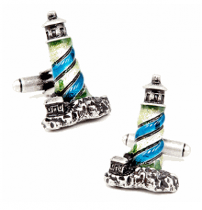 Enamel Lighthouse Cufflinks