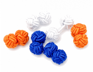 Summer Silk Knot Cufflinks