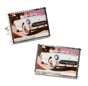 1953 Chevrolet Corvette Stamp Cufflinks