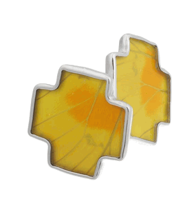 Aymara Yellow Flash Butterfly Cufflinks