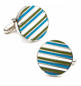 Ocean Stripe Cufflinks