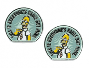 Homer Simpson: Not My Fault Cufflinks