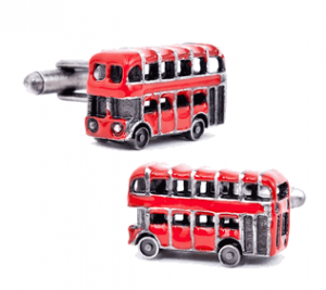 Enamel Double Decker Bus Cufflinks