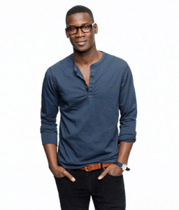 Slim broken-in henley $34.50