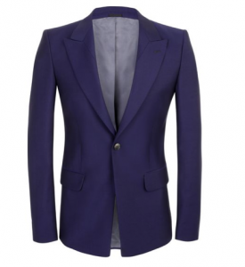 Alexander McQueen Fall 2013 Bluette Wool Suit Jacket
