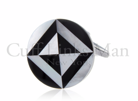 Onyx Mother of Pearl Mosaic Cufflinks