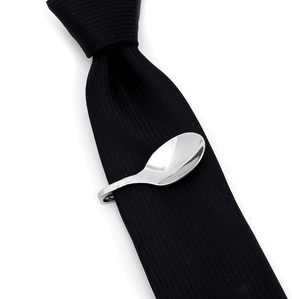 Steel Pebble Spoon Tie Clip