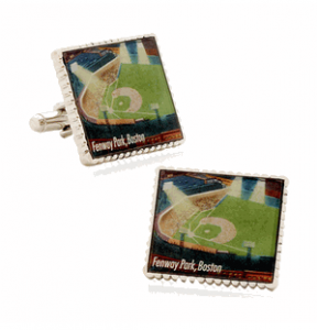 Authentic Fenway Park Stamp Cufflinks