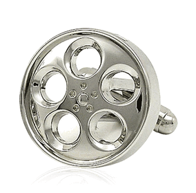 Chrome Wheel Cufflinks