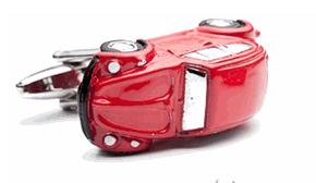 Red iconic Car Cufflinks