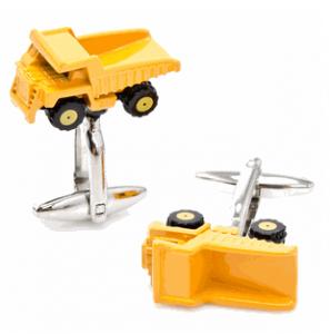 Enamel Dump Truck Cufflinks