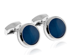 Tateossian Round Cushion Blue Cufflinks