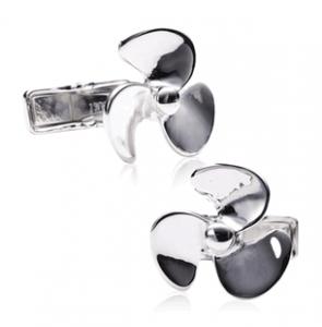 Silver Propeller Cufflinks