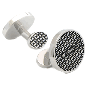 New York Manhole Cufflinks