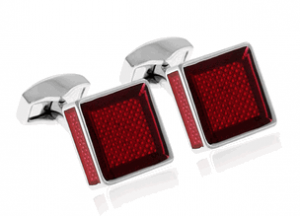 tateossian ice cube red cufflinks