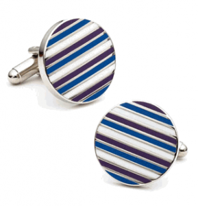 Royal Blue Stripes Cufflinks