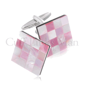 Pink Mother of Pearl Cufflinks