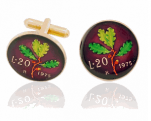 http://www.cufflinksman.com/italian-leaf-hand-painted-coin-cufflinks.html
