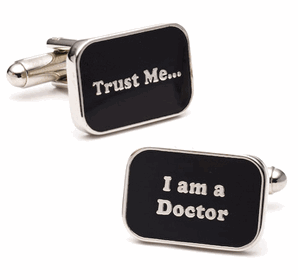 Doctor Slogan Cufflinks