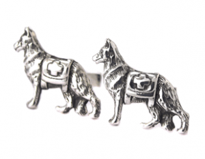 Sterling Silver Service Dog Cufflinks