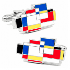 Primary Mondrian Cufflinks by LOMA L2