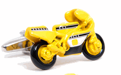 Yellow Motor GP Racing Bike Cufflinks