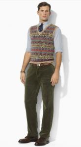 Fair Isle Wool V-Neck Vest from Ralph Lauren